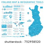 finland map   high detailed... | Shutterstock .eps vector #752958520