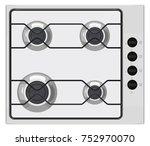 gray shut down gas stove on... | Shutterstock .eps vector #752970070