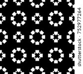 black and white pattern with... | Shutterstock . vector #752977264