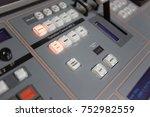 broadcast studio video and... | Shutterstock . vector #752982559