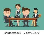 team work business people... | Shutterstock .eps vector #752983279