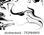 white and black digital... | Shutterstock . vector #752984893