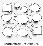a set of comic speech bubbles... | Shutterstock .eps vector #752986276