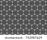 ornament with elements of black ... | Shutterstock . vector #752987629