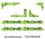 illustration of plant frames... | Shutterstock .eps vector #752989609