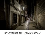 night in the old spanish city... | Shutterstock . vector #752991910