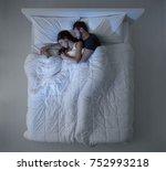 loving couple sleeping in the...   Shutterstock . vector #752993218