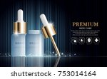 hydrating facial serum for... | Shutterstock .eps vector #753014164