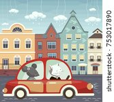 the illustration. the cat and...   Shutterstock .eps vector #753017890
