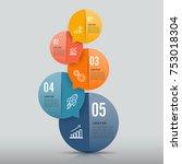 infographics design vector and... | Shutterstock .eps vector #753018304