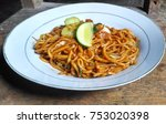 Small photo of mie aceh noodles from indonesian