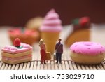 miniature people    male and... | Shutterstock . vector #753029710