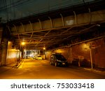 underpass night view