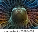 radiating mind series. 3d... | Shutterstock . vector #753034654