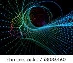 cpu mind series. artistic... | Shutterstock . vector #753036460