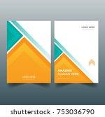 brochure  leaflet  flyer  cover ... | Shutterstock .eps vector #753036790