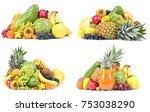 fruit on a white background | Shutterstock . vector #753038290