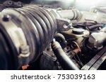 Close Up Of Old Carburetor On...