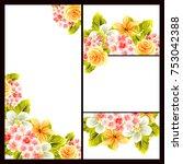 vintage delicate invitation... | Shutterstock .eps vector #753042388