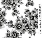 abstract elegance seamless... | Shutterstock .eps vector #753043423