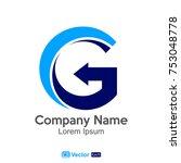 logo letter g company name | Shutterstock .eps vector #753048778