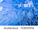 abstract close up of circuits... | Shutterstock . vector #753053956