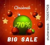 merry christmas sale background ... | Shutterstock .eps vector #753057928