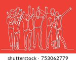 continuous line drawing of... | Shutterstock .eps vector #753062779