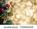 abstract blur christmas tree... | Shutterstock . vector #753065656