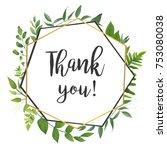 vector floral card design.... | Shutterstock .eps vector #753080038