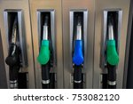 fuel pistols close up at the... | Shutterstock . vector #753082120