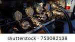tanker truck filling up storage ...   Shutterstock . vector #753082138