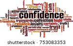 confidence word cloud concept.... | Shutterstock .eps vector #753083353