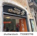 Small photo of Rome, Italy - November 9, 2017: Money exchange signage