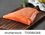 Fresh Raw Salmon Fillet On...
