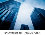 low angle view of skyscrapers... | Shutterstock . vector #753087364
