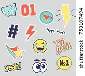Vector Set Of Fashion Patches...
