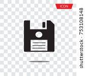 save vector icon  floppy disk... | Shutterstock .eps vector #753108148