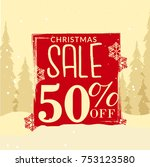winter sale banner or poster...