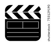 square clapperboard icon   Shutterstock .eps vector #753129190