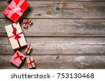 merry christmas. decoration for ... | Shutterstock . vector #753130468