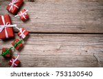 merry christmas. decoration for ... | Shutterstock . vector #753130540