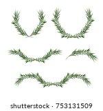 vector decorative element set.... | Shutterstock .eps vector #753131509