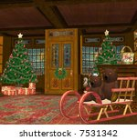a christmas toy shop full of... | Shutterstock . vector #7531342