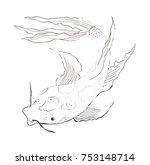 Illustration Drawing Goldfish...