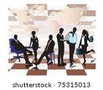 portrait of a business meeting.   Shutterstock .eps vector #75315013