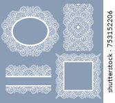 set white laces. seamless... | Shutterstock .eps vector #753152206