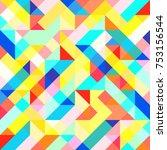 abstract 1980 memphis geometric ...   Shutterstock .eps vector #753156544