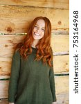 Young Cheerful Red Haired Woma...