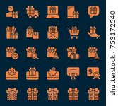 set of gift icons. vector... | Shutterstock .eps vector #753172540
